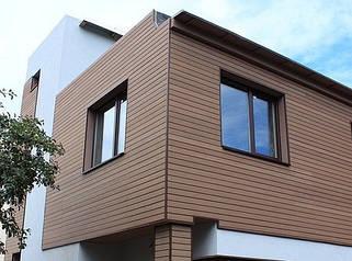Фасадные панели из ДПК