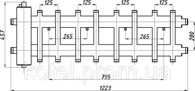 Схема коллектора СК 482.125 с гидрострелкой СК-26
