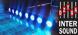 Комплект 6 штук  Led par 54x3 RGBW с мультицветными диодами 3в1