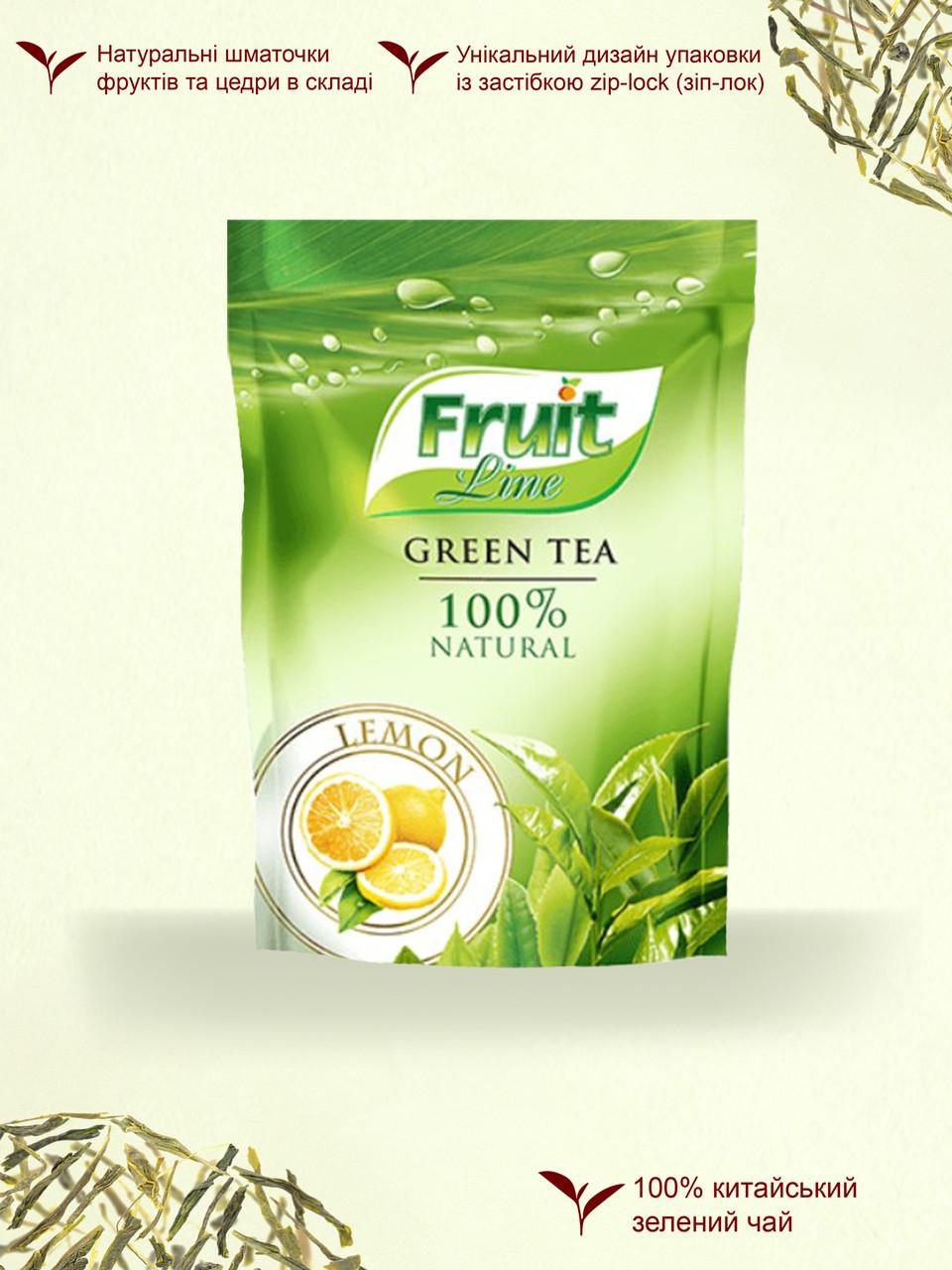 Чай зеленый '''Fruit Line'' листовой ''Лимон'' 80г м/у