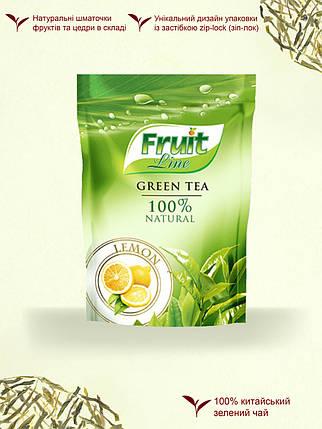 Чай зеленый '''Fruit Line'' листовой ''Лимон'' 80г м/у, фото 2