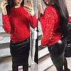 Нарядный костюм женский с гипюром, фото 6