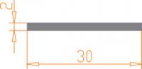 Алюминиевая полоса  30*2 / AS