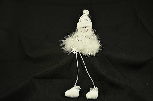 Новогодние украшения Снеговик сидячий  белый   0261, фото 2