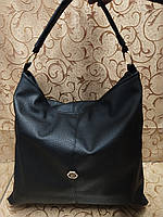 Женские сумка стильная эко кожа (черный+золотой) 38*39*12