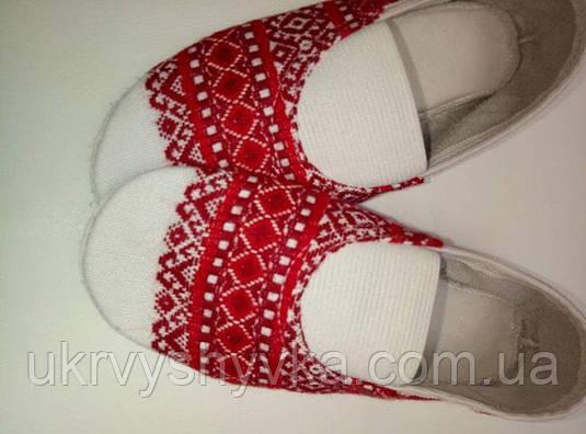 Народне взуття чешки вишиті дорослі 80c06a0e9a3fa