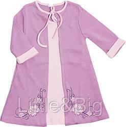 Платье Valeri-Tex 1939-55-090-015 92 см Сиреневый
