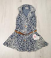 Детское джинсовое платье-сарафан  размер 86-110 (на 2-5 лет) Турция