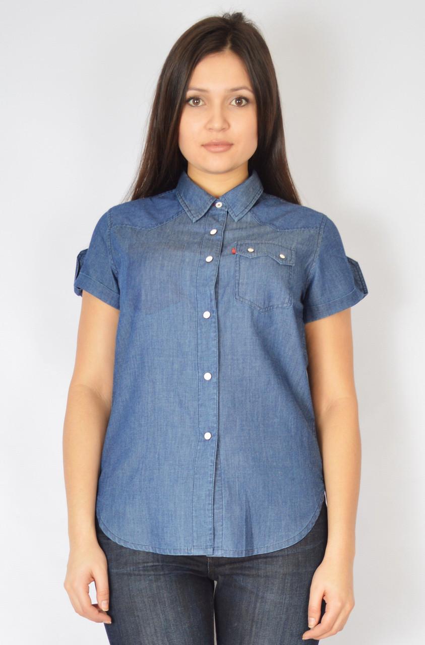 Уценка! Рубашка джинсовая на кнопках, 46-48 размер, фото 1