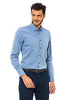 Голубая мужская рубашка LC Waikiki / ЛС Вайкики с синими пуговицами