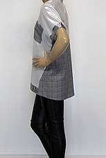 Женская футболка больших размеров люрекс серебро, фото 2