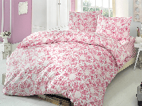 Полуторное постельное белье Brielle 704 V1 Pink PVC Ранфорс