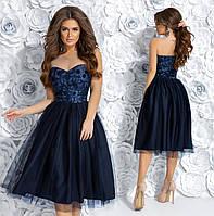 Платье нарядное с аппликацией в расцветках 28229, фото 1