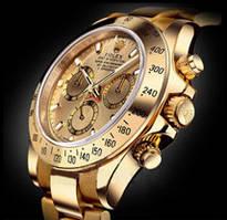 Часы Rolex Daytona Корона кварцевые мужские (ролекс) золото с золотым циферблатом