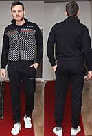 Мужской спортивный костюм черный Gucci весна осень лето ТОПОВОЕ КАЧЕСТВО