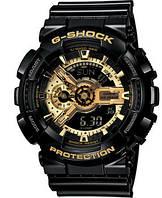 Часы мужские CASIO G-Shock GA 110 AAA качество черно-золотые