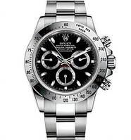 Механика Rolex Daytona Black ролекс механические часы мужские серебро-черные