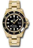 Часы мужские наручные Rolex Submariner золото-черные ролекс