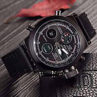 Наручные армейские часы АМСТ (AMST) черные
