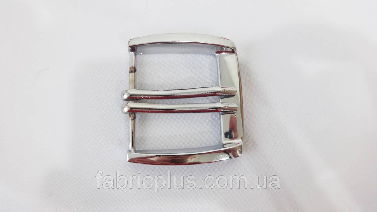 Пряжка мужская клас. 4 см/2 прокола никель