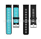 Ремешок Sport Dual Color для Xiaomi AMAZFIT Pace / Stratos / 22 мм Black / Blue (Черный / Голубой), фото 2