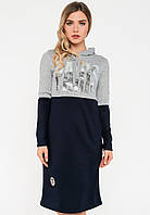 Спортивне плаття з капюшоном з трикотажу Modniy Oazis сірий 90270/1, фото 1