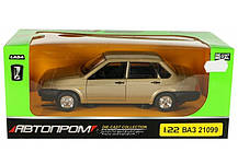 Машина металлическая 21099 Автопром. Двери, багажник, капот открываются, фото 3