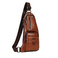 Мужская рюкзак-сумка Jeep коричневый