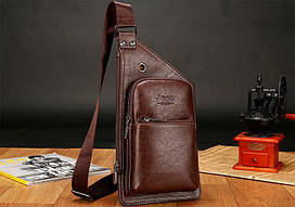 Мужская рюкзак-сумка Jeep 1941 прямоугольная коричневая