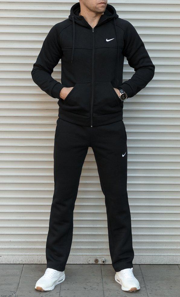 567369b9 Мужской теплый спортивный костюм Nike черного цвета купить недорого ...