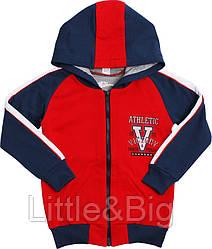 Толстовка Valeri-Tex 1933-55-055-012 98 см Красный