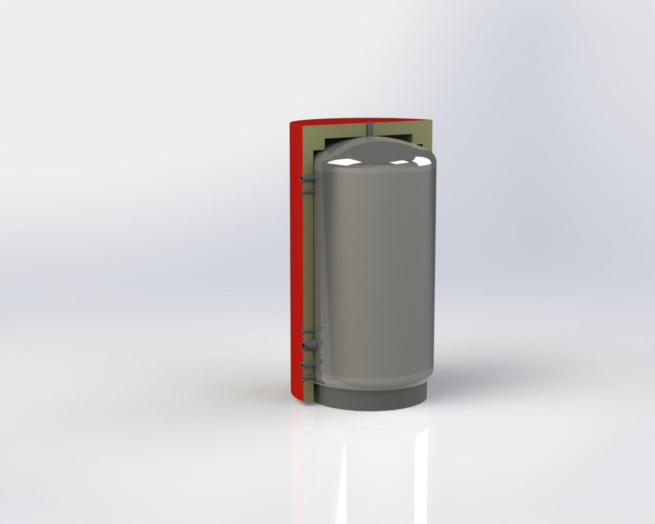 Теплоаккумулятор для котла ЕАМ-00-350 с изоляцией 60 мм Куйдич