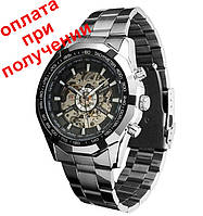 Мужские механические часы скелетон WINNER Skeleton ОРИГИНАЛ C АВТОПОДЗАВОДОМ