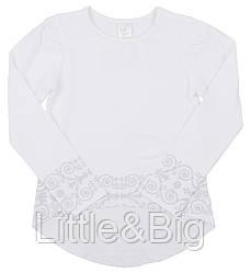 Блузка Valeri-Tex 2033-55-041-002 128 см Белый