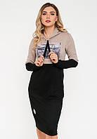 Спортивное платье с капюшоном из трикотажа Modniy Oazis бордовый 90270 2 77a11f65d76cd