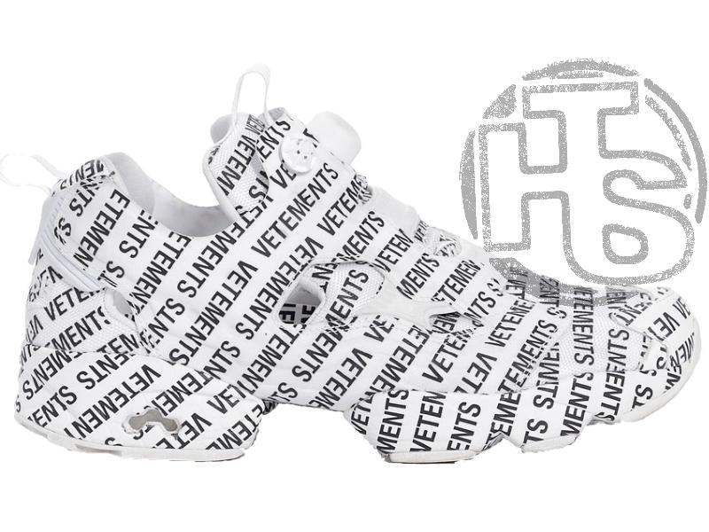 Женские кроссовки Reebok Instapump Fury Vetements Emoji White/Black 181669M23