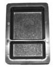 Формы для тротуарной плитки Брук шагрень двойной  4.5 и 6.0 см