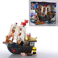 Пиратский корабль с фигурками пиратов
