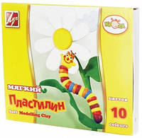 """Пластилин мягкий """"Кроха"""" Луч 10 цветов 165гр., к/к, со стеком"""