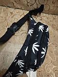 Сумка на пояс мессенджер супер печать лист лето качество/Спортивные барсетки бананка опт, фото 3