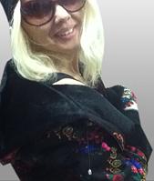 Шубка-курточка в стиле Матрешка из оригинал платка, фото 1