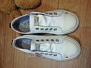 Белые оригинальные кеды мокасины Next (Размер 30.5, 19см), фото 5