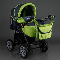 Детская коляска - трансформер Viki Karina (Карина) С15 - темно серый - яблоко