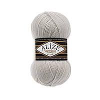 Пряжа Alize Superlana Klasik оттенок согласно карте цветов светло-серый меланж 208