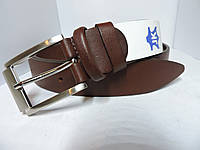 Брючный кожаный ремень 3.5 см