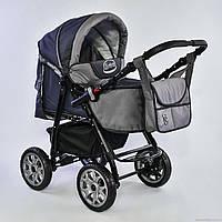 Детская коляска - трансформер Viki Karina (Карина) - темно серый - серый