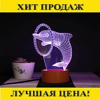"""3D светильник """"Дельфин""""!Спешите Купить"""
