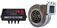 Комплект автоматики Polster C-11 и вентилятор NWS-100 для котла на твердом топливе