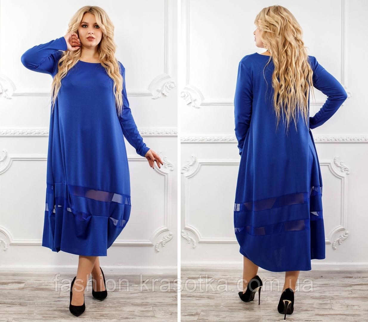 Вечернее женское удлиненное платье,ткань французский трикотаж с сеткой .
