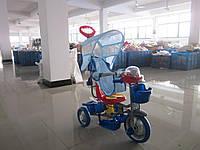 Велосипед трехколесный с ручкой